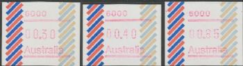 Australian Framas: Barred Edge Button Set 30c, 40c, 85c: Post Code 6000 Perth